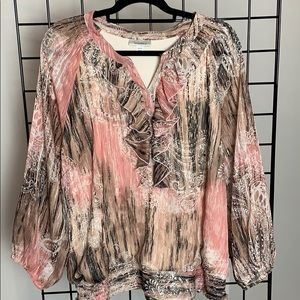 Dressbarn Fall Blouse, Plus Sz 22 / 24
